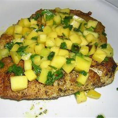 Curry Spiced Tilapia with Mango Salsa