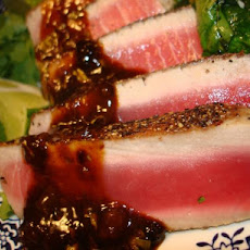 Tuna With Apricot Chipotle Glaze