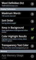 Screenshot of Word Solver Lite