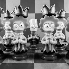 Simpsons Checkers by Tammy Drombolis - Artistic Objects Toys ( nikon simpsons rows )