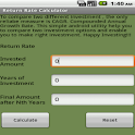 Return Rate Calculator Free icon