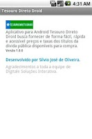 Screenshot of Tesouro Direto Droid