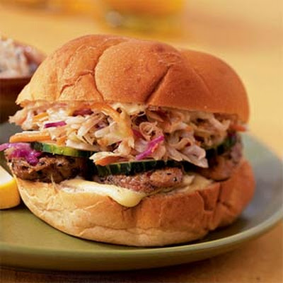 Spicy Pork and Sauerkraut Sandwiches