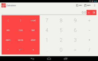 Screenshot of Clean Calculator