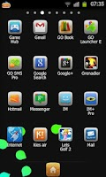 Screenshot of Miui Black Go Launcher Theme