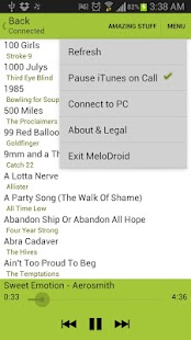 MeloDroid iTunes Sync & Remote - screenshot