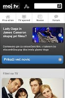 Screenshot of Moj TV Slovenija