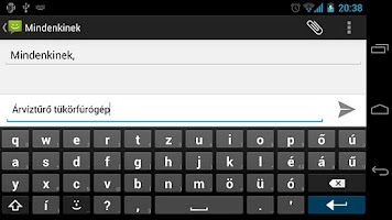 Screenshot of Magyar AnySoftKeyboard