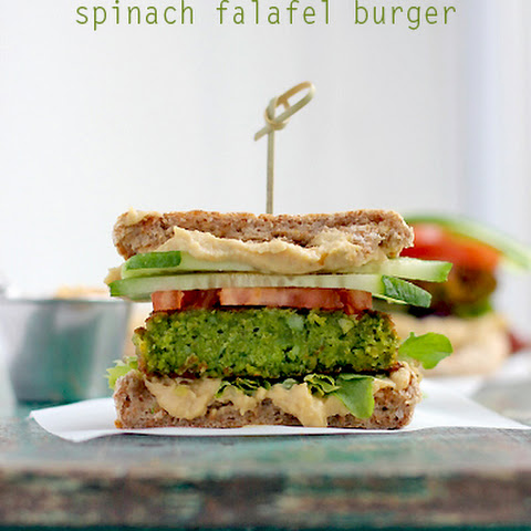 Spinach Falafel Burger