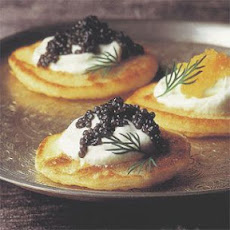 Blini with Caviar and Crème Fraîche