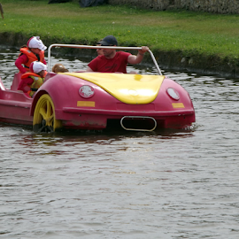 Sat Nav Malfunction by Dave Turner - Transportation Boats ( car, water, boats, fun, canal )