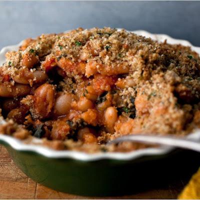 Slow-Baked Beans With Kale