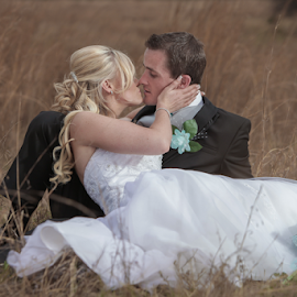 Fields by Lodewyk W Goosen-Photography - Wedding Bride & Groom ( love, wedding, couple, marriage, bride, groom )