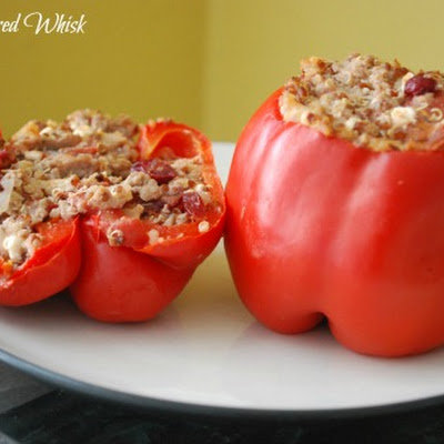 Turkey Quinoa Stuffed Peppers (A Food Centric Life)