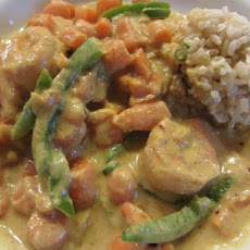 Shrimp in Yellow Curry (Gang Lueng Goong)