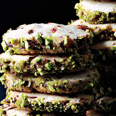 Cherry Pistachio Slice-and-Bake Cookies