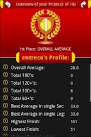 Screenshot of Darts ScoreCard PRO