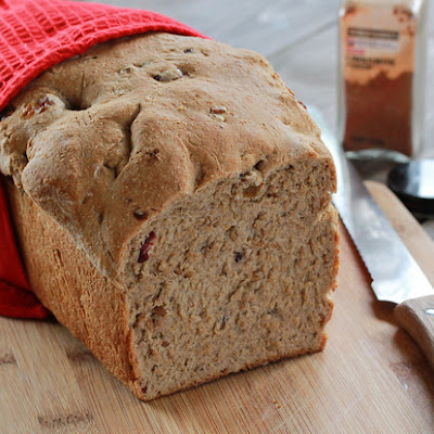 Cinnamon Raisin (Cranberry) Oatmeal Bread ~ #ChristmasWeek