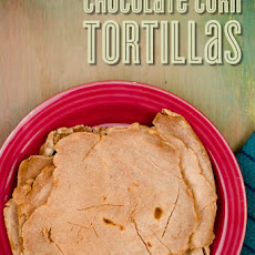 Homemade Corn Tortillas with a Hint of Chocolate
