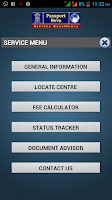 Screenshot of mPassport Seva