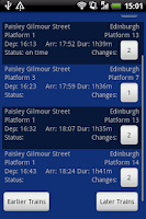Screenshot of UK Trains Journey Planner Free