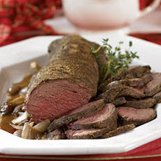 Beef Tenderloin with Shallot Sauce