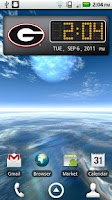 Screenshot of Georgia Bulldogs Clock Widget