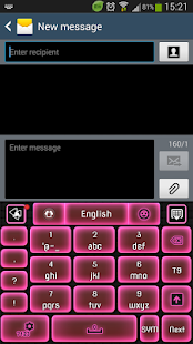 GO Keyboard Neon Pink - screenshot