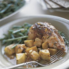 Rosemary and Orange-Glazed Chicken with Sweet Potatoes