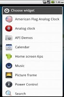 Screenshot of American Flag Clock Widget