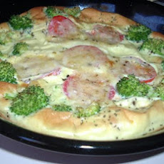 Baked Omelet With Broccoli & Tomato