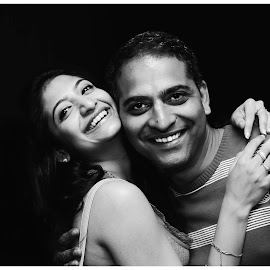 """I'm oxygen and he's dying to breathe.""  by Madhu Babu - People Couples ( bangalore, ritz, beautiful, white, party, people, women, life, family, couple, india, men, smile, black )"