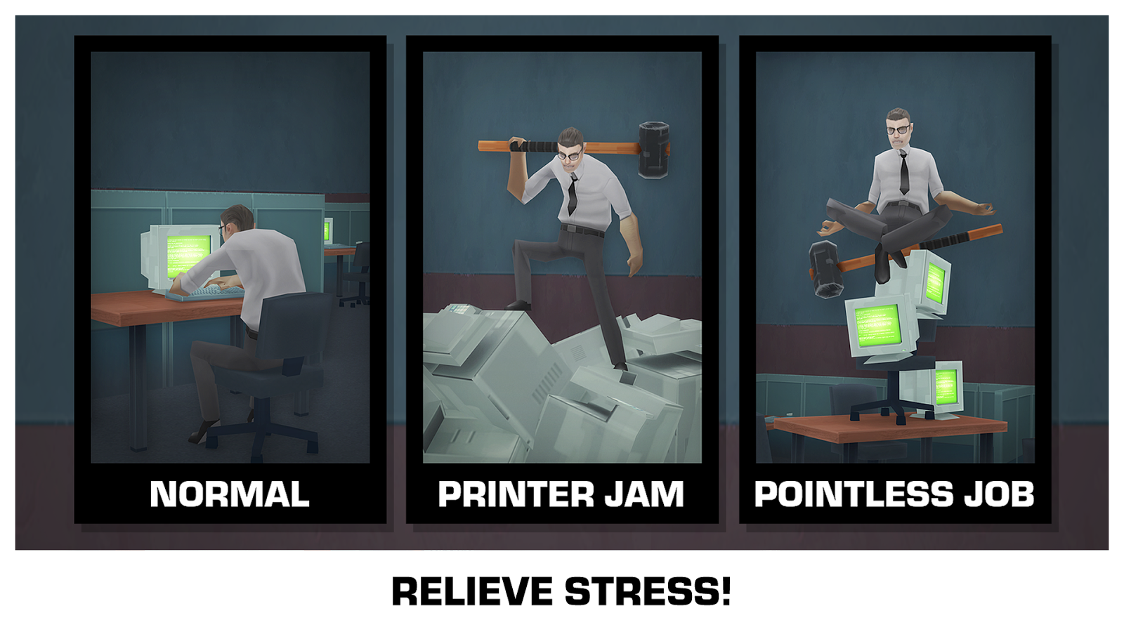 Smash the Office - Stress Fix! Screenshot 2
