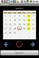 Screenshot of Meeting Date