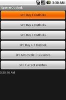 Screenshot of Storm Chaser SPC Outlook App