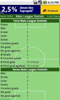 Screenshot of Football Statistics