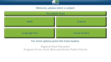 Screenshot of Regional Adult Ed - GED®