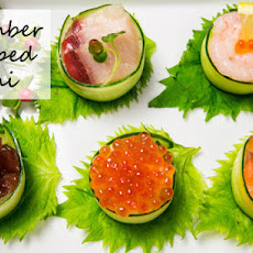 Cucumber Wrapped Sushi