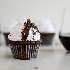 Dark Chocolate Fudge Merlot Cupcakes
