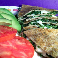 Tortillas With Spinach and Mozzarella Cheese