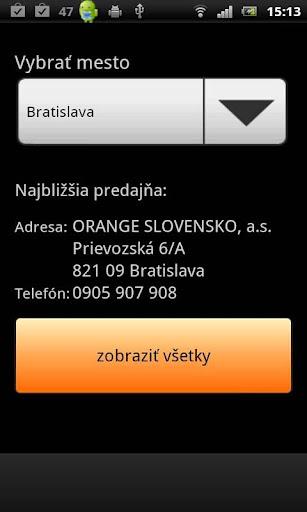 Orange predajne