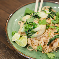 Pad Thai with Baby Tatsoi