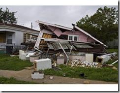 Vivienda destruida por Gustav en Luisiana