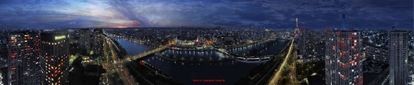 paris night panorama