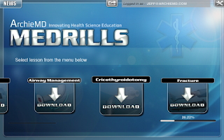 Screenshot of Medrills: Group or Single User