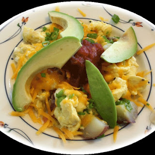 Eggs, Avocado, and Salsa Scramble