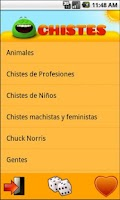 Screenshot of Chistes