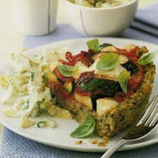 Pesto Rice Pie With Mozzarella