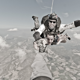 our playground by Ioannis Vlachiotis - Sports & Fitness Other Sports ( flying, skydive, tandem, skydiving, parachutist, greece )