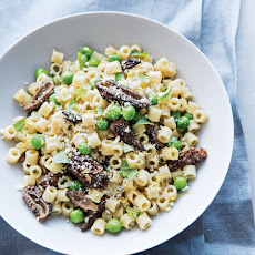 Pasta with English Peas & Morels